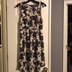 Forever 21 tie dye high low dress